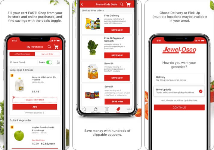 Jewel-Osco Delivery & Pick Up iPhone and iPad App Screenshot