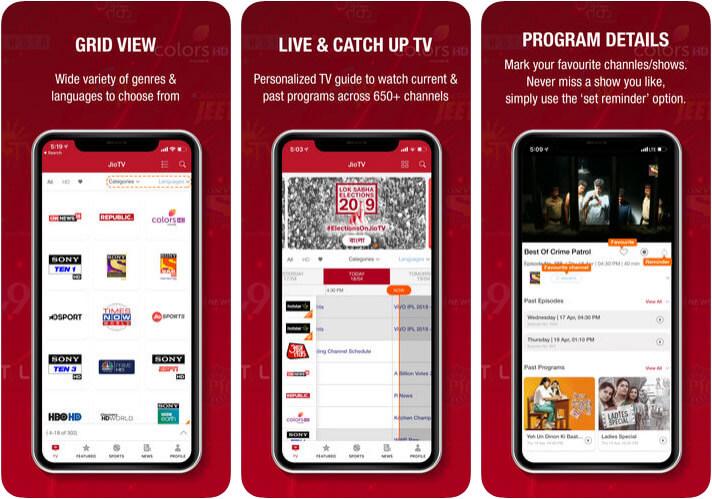 JioTV Live Cricket Streaming iOS App Screenshot
