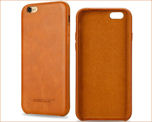 Jisoncase Leather Case for iPhone 6-6s Plus