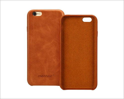 Jisoncase Slim Fit Leather Case for iPhone 6 6s