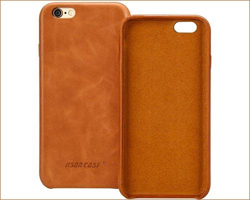 Jisoncase iPhone 6s Genuine Leather Case