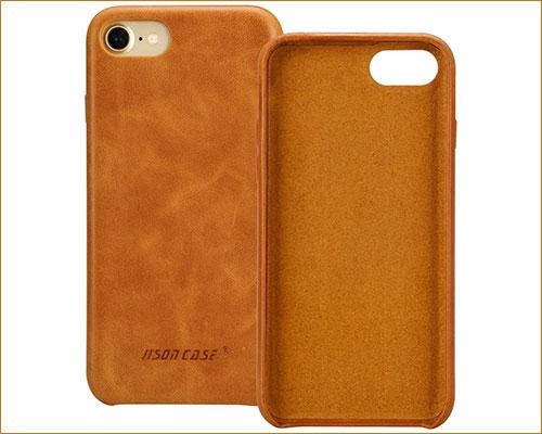 Jisoncase iPhone 7-8 Leather Case