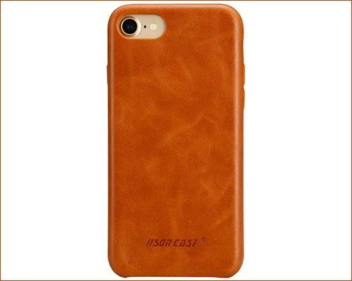 Jisoncase iPhone 8 Leather Case