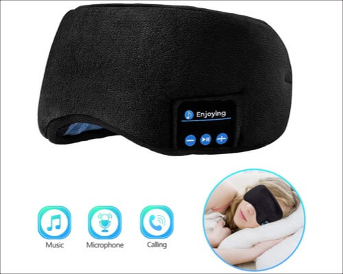 Joseche Eye Mask with Built-in Speakers Microphone