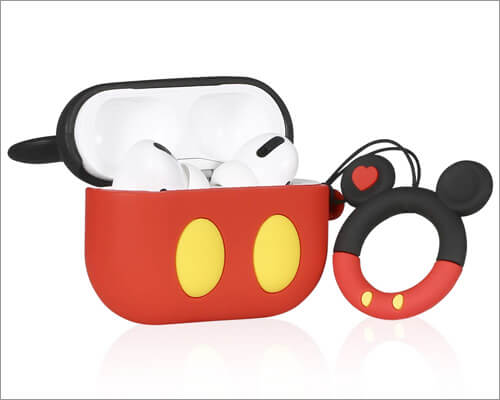 Joyleop Red Mickey Case for Airpods Pro