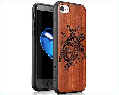 JuBeCo Wooden Case for iPhone 7