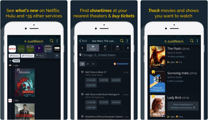 JustWatch iPhone and iPad App Screenshot