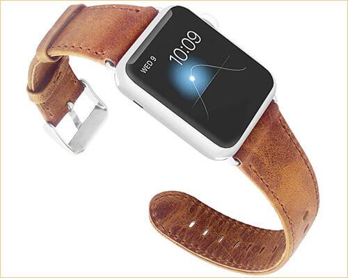 KADES Apple Watch Series 3 Leather Band