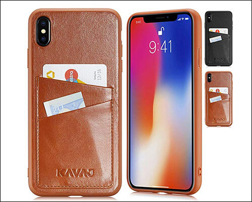 KAVAJ Leather Wallet Slim Case for iPhone Xs Max