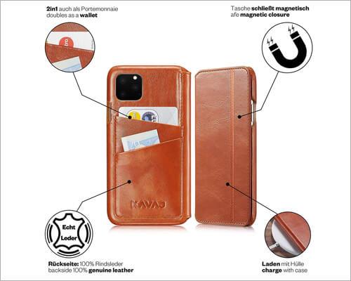 KAVAJ iPhone 11 Pro Folio Case with Card Holder