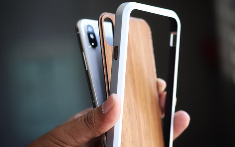 KERF Wooden Alloy Case for iPhone X, Xs, Xs Max, and iPhone XR