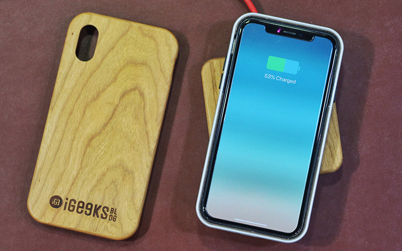 KERFCase iPhone X, Xs, Xs Max Wooden Wireless Charger