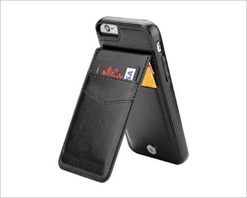 KIHUWEY iPhone 6 6s Leather Case with Credit Card Holder