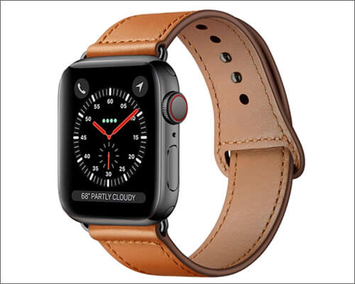 KYISGOS Genuine Leather Band for Apple Watch Series 4