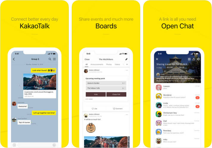 KakaoTalk iPhone App Screenshot