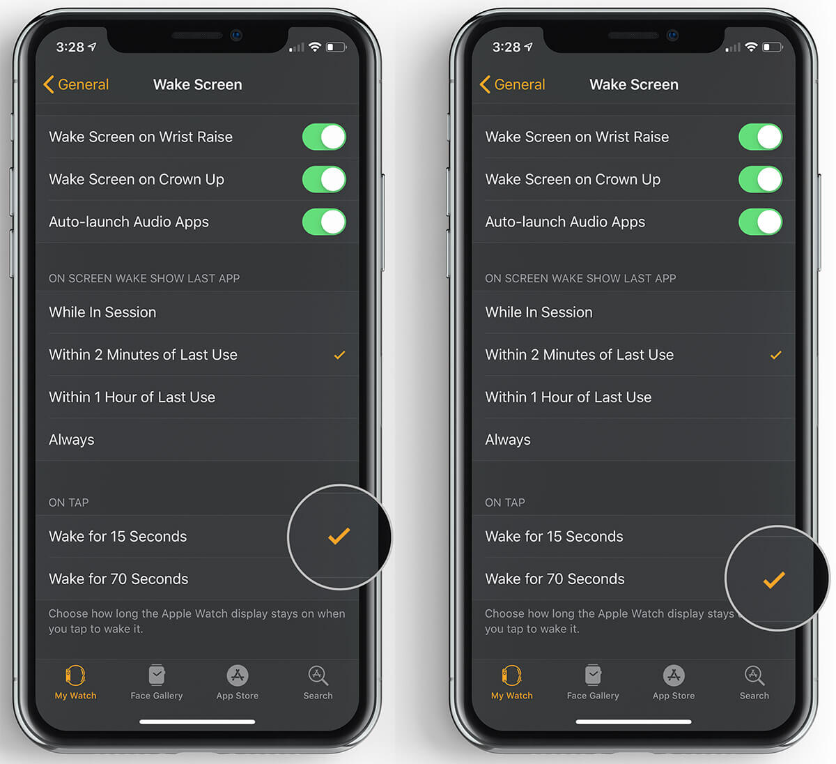 Keep Apple Watch Screen Awake for Longer