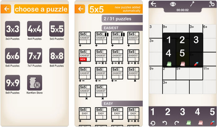 KenKen Classic iPhone and iPad Math Game Screenshot