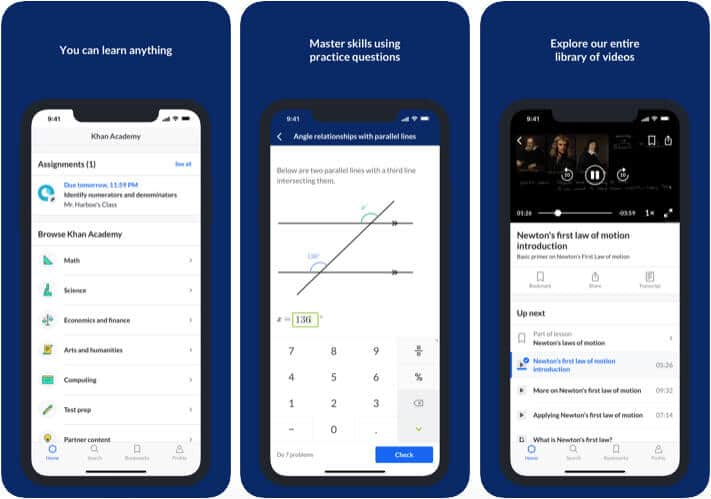 Khan Academy iPhone and iPad Chemistry App Screenshot