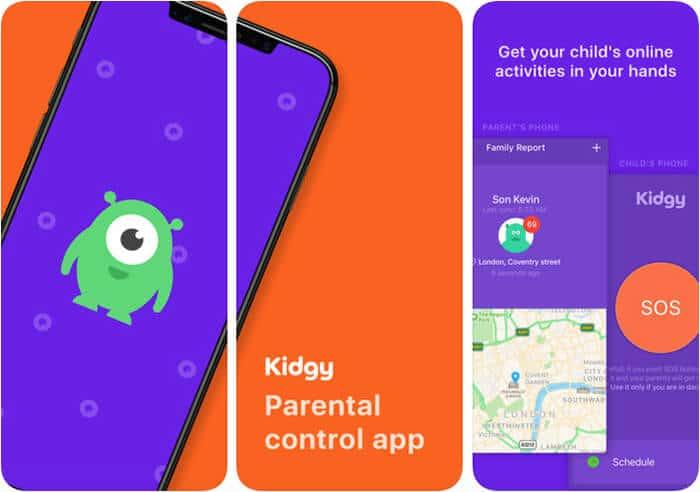 Kidgy Parental control iPhone App Screenshot