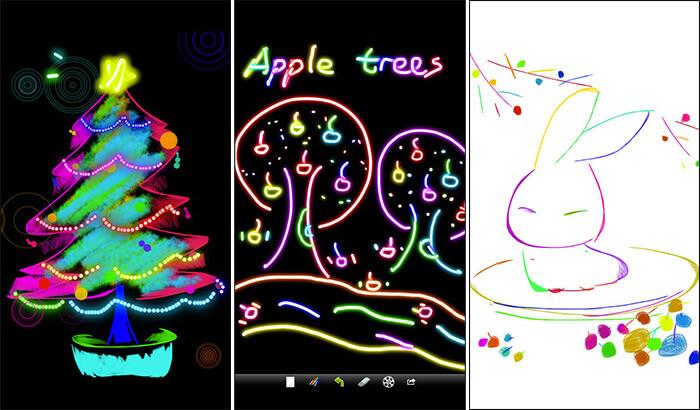 Kids Doodle iPhone and iPad App Screenshot
