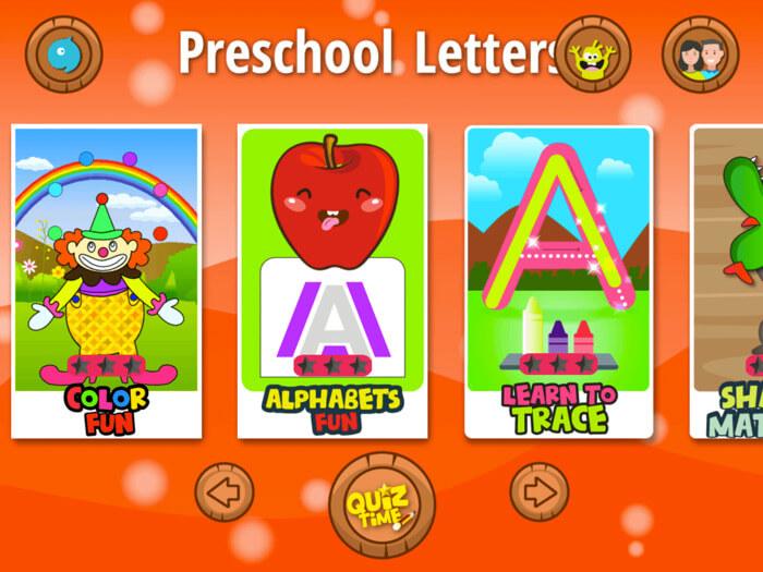 Kids Preschool Learn Letters iPhone and iPad App Screenshot