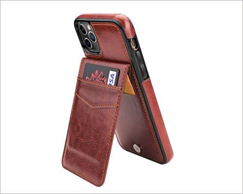 Kihuwey Wallet Credit Card Holder Case for iPhone 11 Pro Max