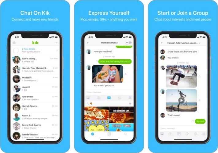 Kik iMessage Alternative iPhone app screenshot