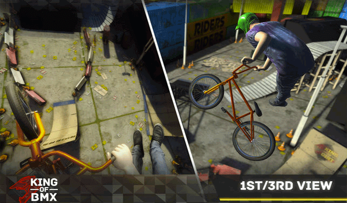 King Of BMX iPhone and iPad Game Screenshot