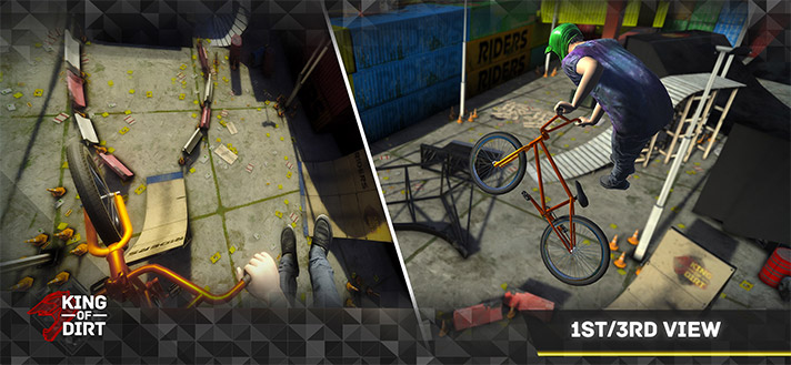 King Of Dirt BMX iPhone and iPad Game Screenshot