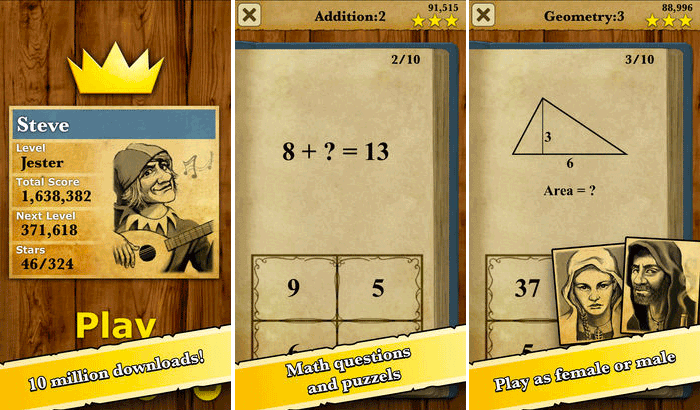 King of Math iPhone and iPad app Screenshot
