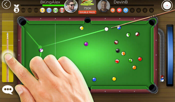 Kings of Pool AR iPhone and iPad Game Screenshot