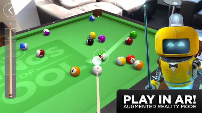 Kings of Pool Game App for iPhone and iPad Screenshot