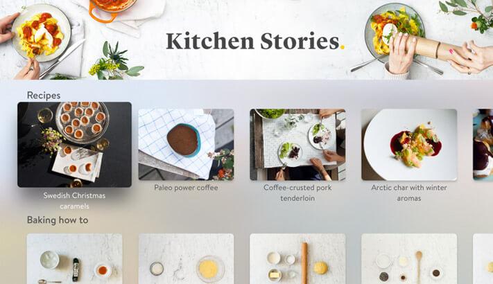 Kitchen Stories Recipes Apple TV App Screenshot