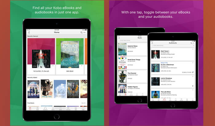 Kobo Books eBook Reader iPhone and iPad App Screenshot