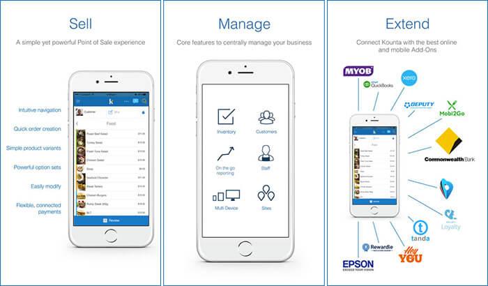 Kounta iPhone and iPad POS App Screenshot