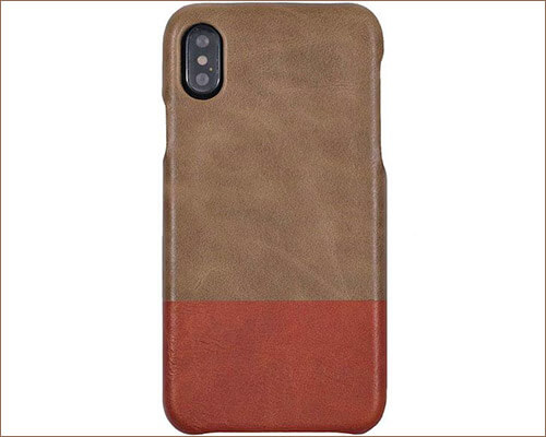 Kulor iPhone Xs Max Leather Case