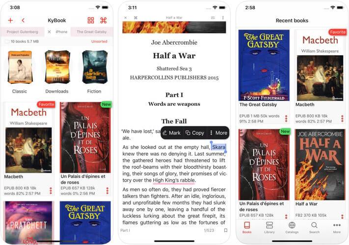 KyBook 3 eBook Reader iPhone and iPad App Screenshot