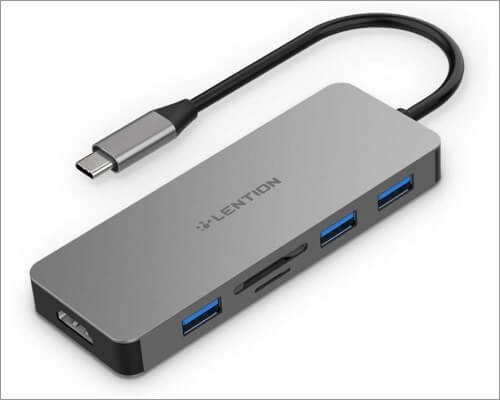 LENTION USB-C Card Reader for Mac