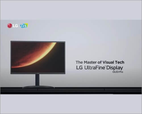 LG OLED Ultrafine Monitor accessory from CES