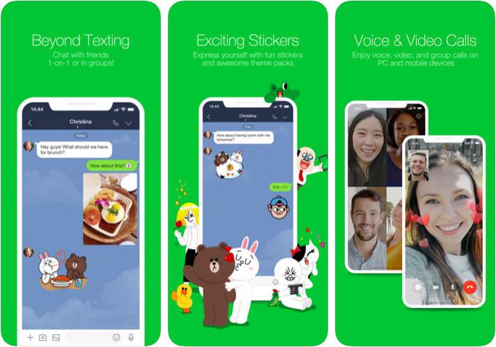 LINE iPhone App Screenshot
