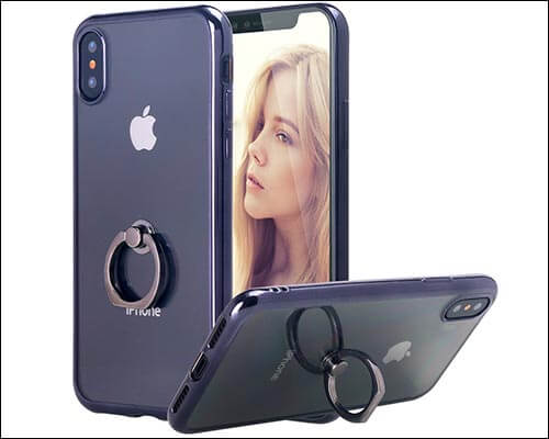 LONTECT Thin iPhone X Ring Holder Case