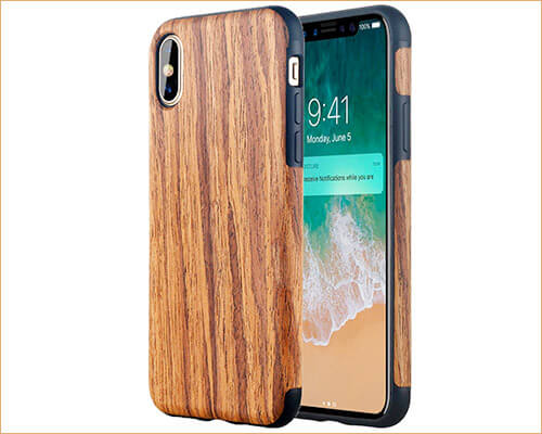LONTECT Wooden Case for iPhone Xs Max