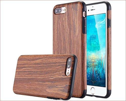 LONTECT iPhone 8 Plus Wooden Case