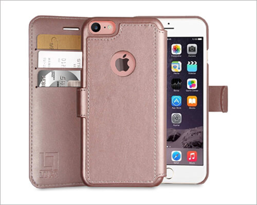 LUPA Rose Gold Leather Case for iPhone 6 6s