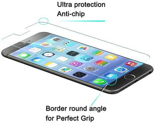 LUVVITT Tempered Glass Screen Protector for iPhone 6