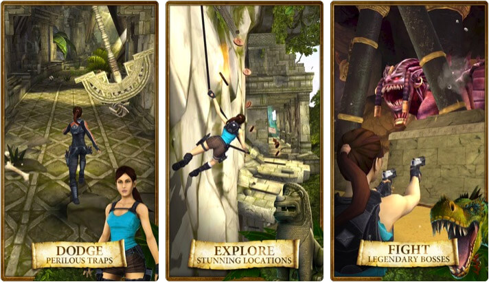 Lara Croft Relic Run iPhone and iPad Game Screenshot