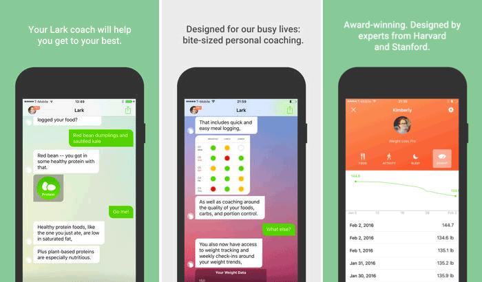 Lark-24:7 Health Coach iPhone and iPad App Screenshot
