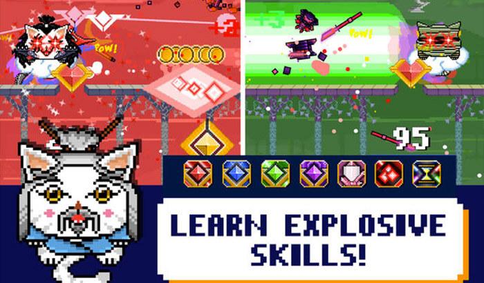 Laser Kitty Pow Pow Weird iPhone Game Screenshot