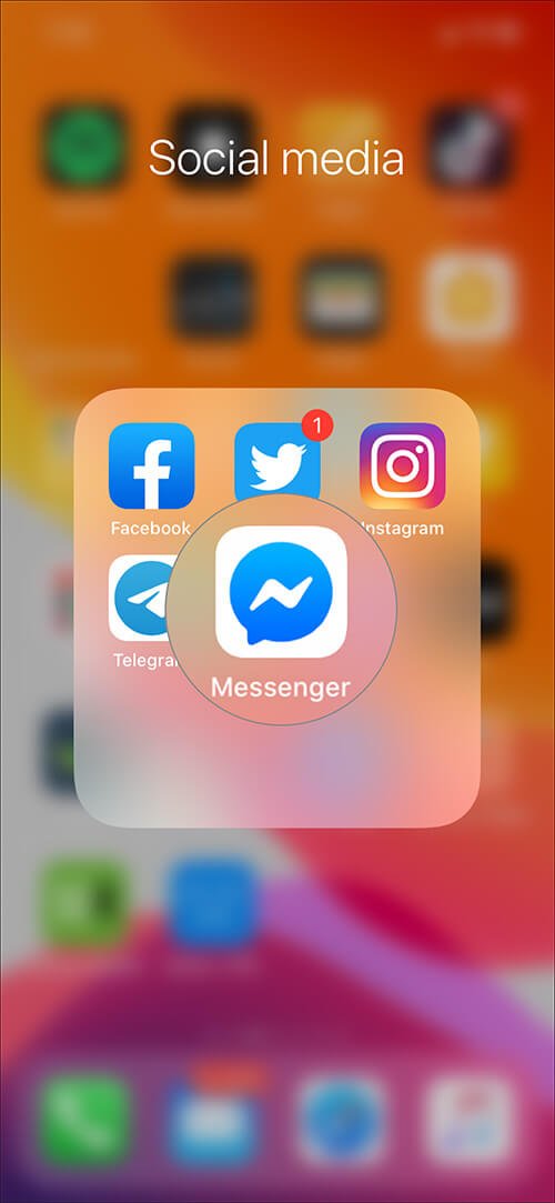 Launch Messenger app on your iPhone