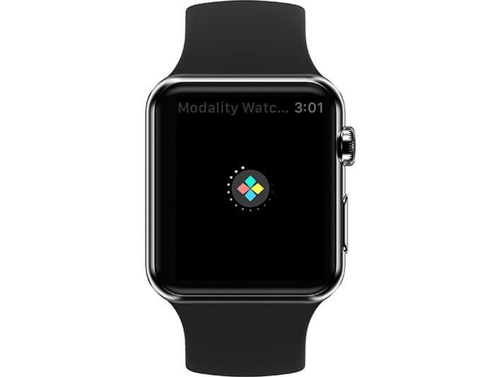 Launch Modality Keyboard App on Apple Watch